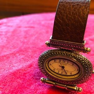 Ecclissi Sterling Silver Ladies Watch Leather Band